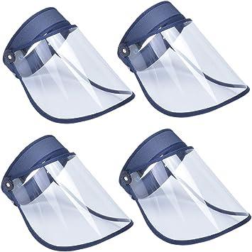 AIEOE Pack de 4 Escudo Facial de Protección al Aire Libre Visera Protectora Antigotas Transparente Careta de Seguridad de Cara Completa: Amazon.es: Bricolaje y herramientas