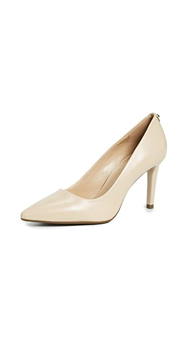 97eaa93e0d Amazon.com | Michael Kors Womens Dorothy Flex Pumps Leather Pointed Toe,  Oyster, Size 8.5 | Shoes