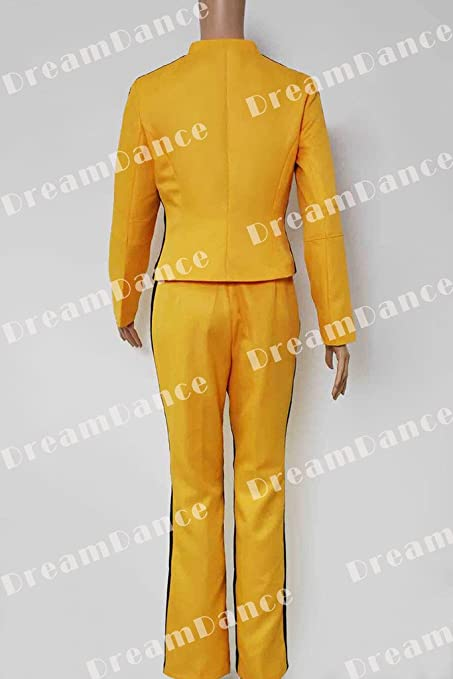 Dreamdance Kill Bill Cosplay disfraz de novia el Uniforme amarillo ...