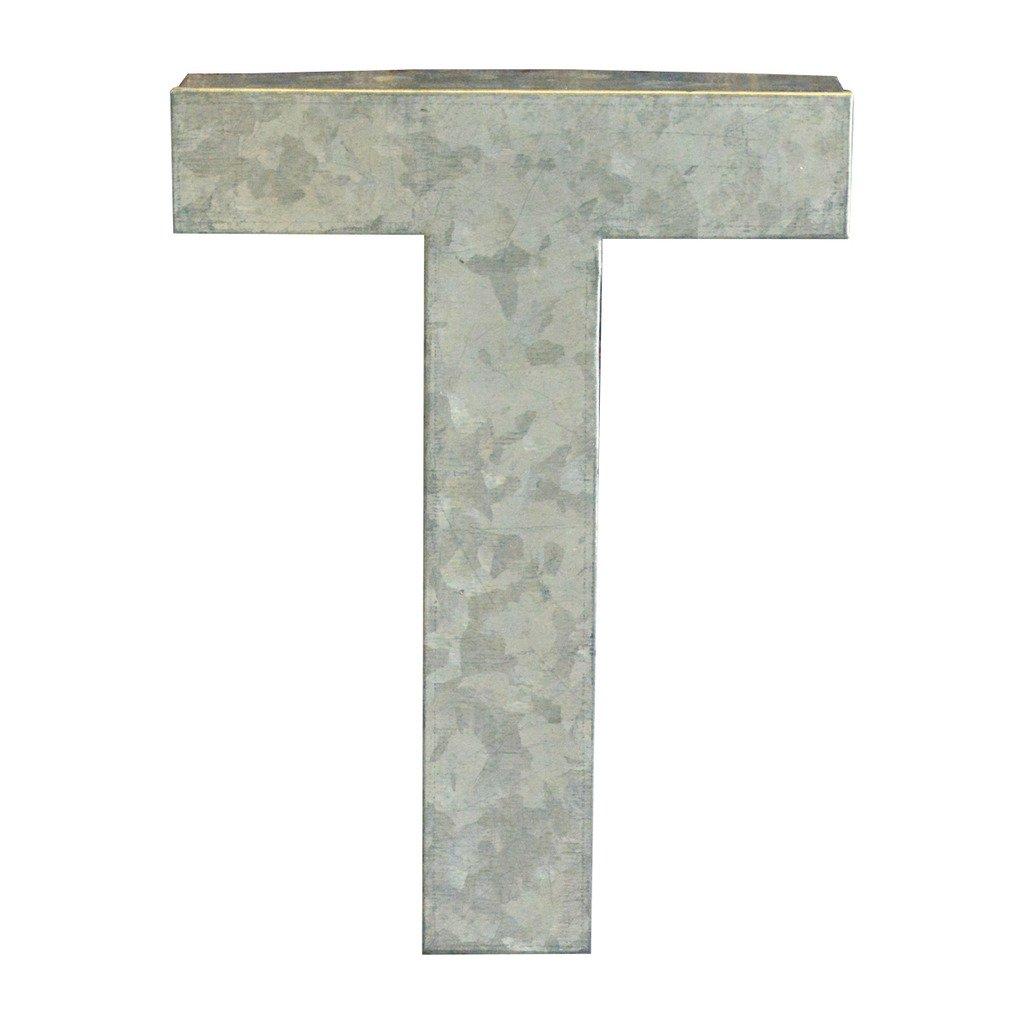 Modelli Creations Alphabet Letter T Wall Decor, Zinc