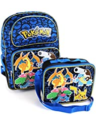 Pokemon 16 inch Backpack and Lunch Box Set