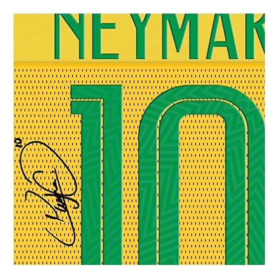 SGH SERVICES Neuf Neymar T-Shirt 2018/19Neymar Brésil Maillot de Football dédicacée encadrée Toile 100% Coton autographe encadrée # 2