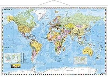weltkarte englisch Riesen Weltkarte (englisch) im Riesenformat, 190 x 137 cm mit  weltkarte englisch