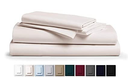 d0f5fcd59d53 Kemberly Home Collection 800 Thread Count 100% Pure Egyptian Cotton –  Sateen Weave Premium Bed Sheets, 4- Piece Ivory Queen- Size Luxury Sheet  Set, ...