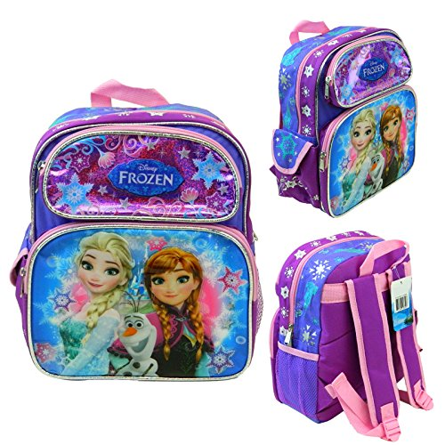 "Price comparison product image Disney Frozen Anna Elsa 12"" School Backpack Kid's Toddler Book Bag Canvas New"