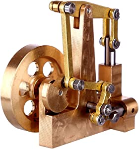 Mini Pure Copper Steam Engine Model Without Boiler, 4.7 x 2.9 x 4.6CM- Balance Type