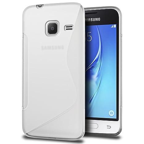 SLEO Funda para Samsung Galaxy J1 Mini 2016 Slim Fit TPU Carcasa de Parachoques Case Traslúcido Suave con Absorción de Impactos y Resistente a los ...
