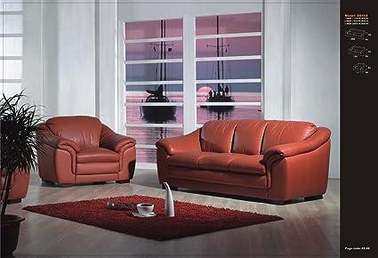 Diseño completo de piel de sofá de piel Juego de muebles ...