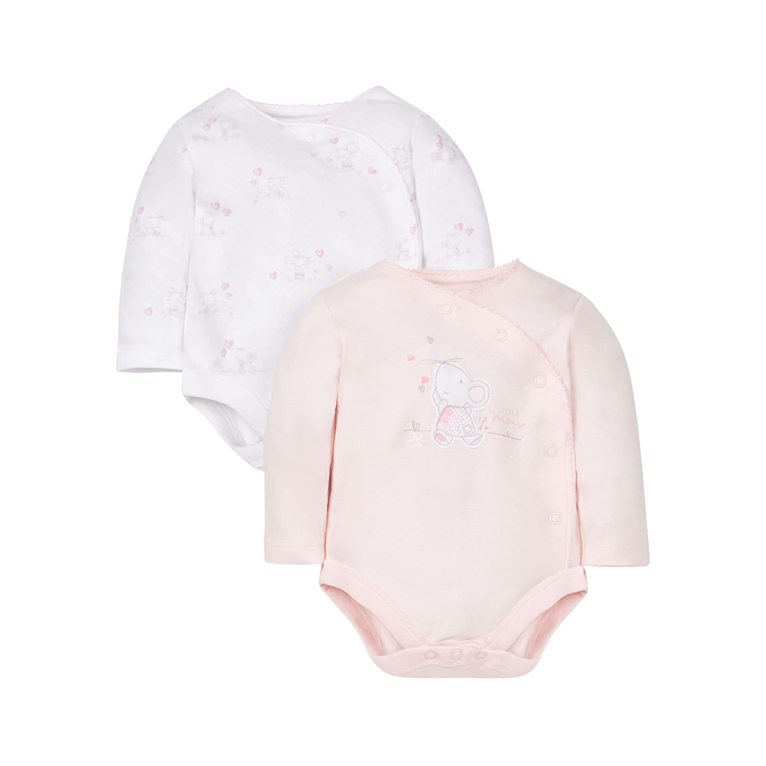 Mothercare Little Mouse Bodysuits - 2 Pack Multi LD247