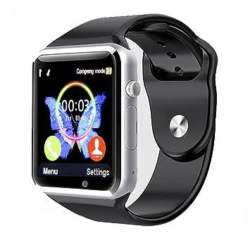 Reloj Inteligente Kivors con Bluetooth y Ranura para Tarjeta SIM para Usar Como Teléfono Móvil. Reloj Deportivo con Rastreador de Actividad, Podómetro ...