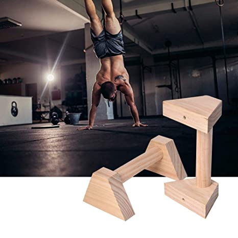 Non-Slip Support Stand Handstand Fitness Equipment Double Rod 25cm 1 Pair Pushups Strength Training Equipment