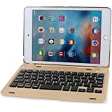 iEGrow F1+ Ultra Slim Clamshell Lightweight Keyboard Case for iPad Mini 4(Gold)