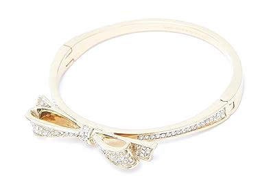 bbb88d278 Amazon.com: Kate Spade New York Love Notes Bangle Hinged Bracelet ...