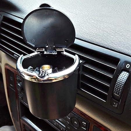 Kitchen-dream Cenicero coche, Cenicero del coche portátil con tapa ...