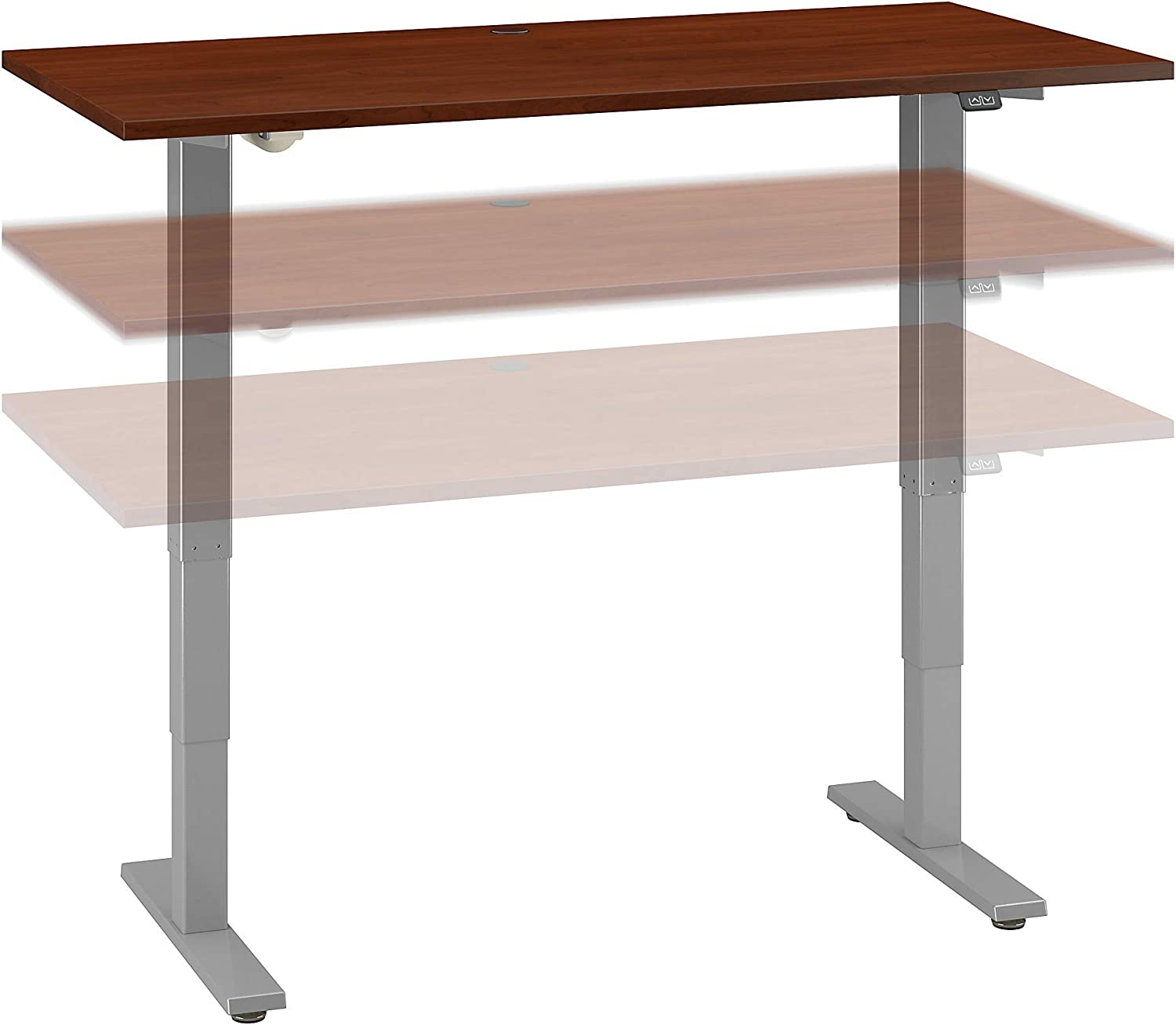 Bush Business Furniture Move 40 Series Height Adjustable Desk, 60W x 30D, Hansen Cherry