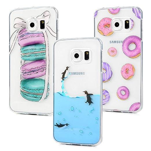 5 opinioni per 3x Cover per Samsung Galaxy S6 Edge, Custodia Samsung Galaxy S6 edge Silicone