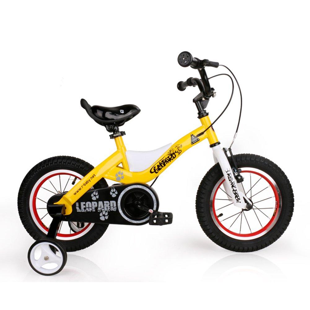 XQ TR-433青い子供の自転車キッズ自転車3-8歳の少年少女の乗馬の安全安定した14インチ、103 * 17.5 * 55センチメートル 子ども用自転車 ( 色 : Yellow-14inch ) B07C5M3SBF Yellow-14inch Yellow-14inch