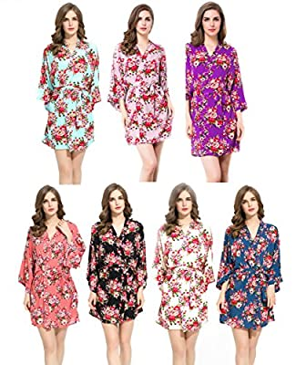 Bridesmaids Robes Floral Wedding Bride by Endless Envy