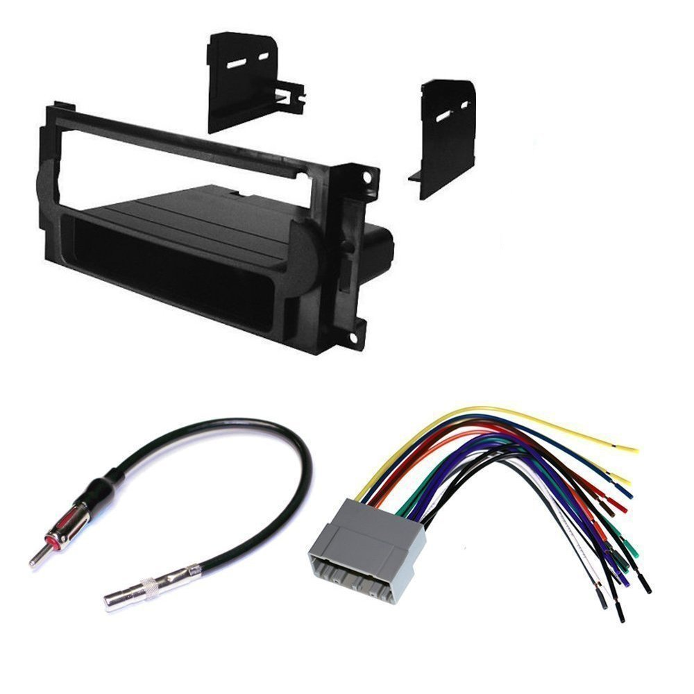 Dodge 2005-2007 Dakota CAR Stereo Dash Install MOUNTING KIT Wire Harness Radio Antenna Package