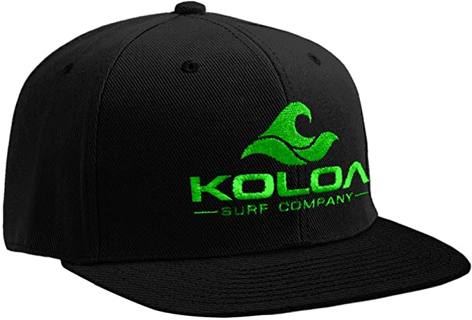 Amazon.com  Koloa Surf-Classic Wave Logo Snapback Hats Black Green ... f46b2364044