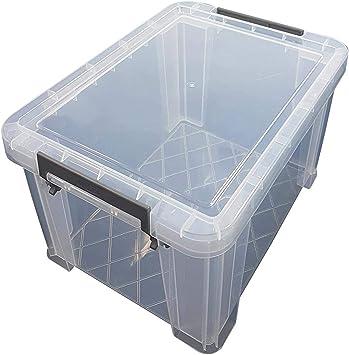 2X Grande sin Bpa Hecho GB Plástico Garaje de Almacenamiento Jardín Nik Nak Bañera Caja Envase: Amazon.es: Bricolaje y herramientas
