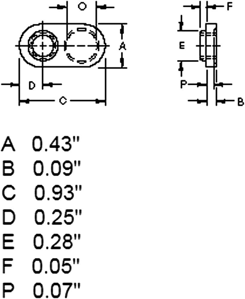 Spot Weld Nuts 1//4-20 Single Tab Weld Nut with Target Weld Nuts Spot Offset Hole