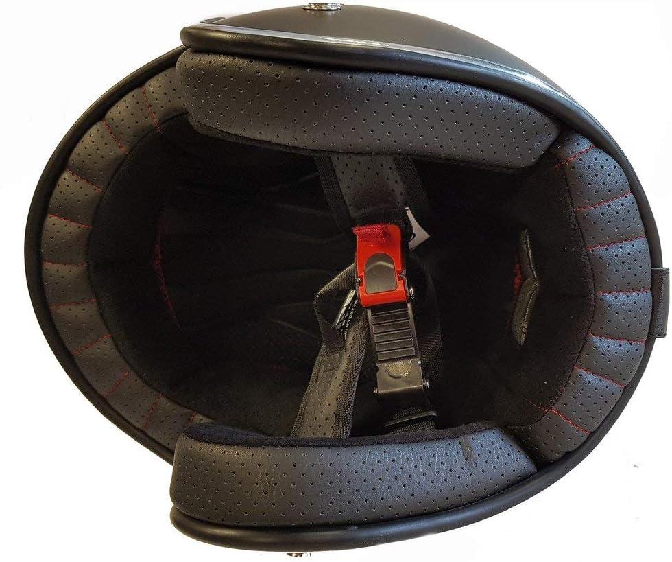 55-56 CM CASCO JET VIPER RS05 CHEQUER APERTO MOTO CUSTOM SCOOTER URBAN CHOPPER BANDIT RETRO OMOLOGATO ECE DONNA UOMO CASCHI NERO S
