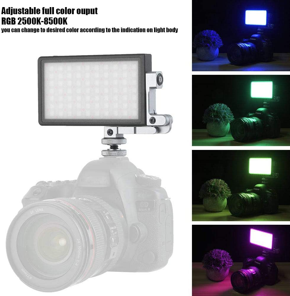 Simlug BL-P1 RGB 2500-8500K LED Video Light Portable Camera Photo Light Panel Dimmable for DSLR Full Color Camera Camcorder Video Light 9 Lighting Effects