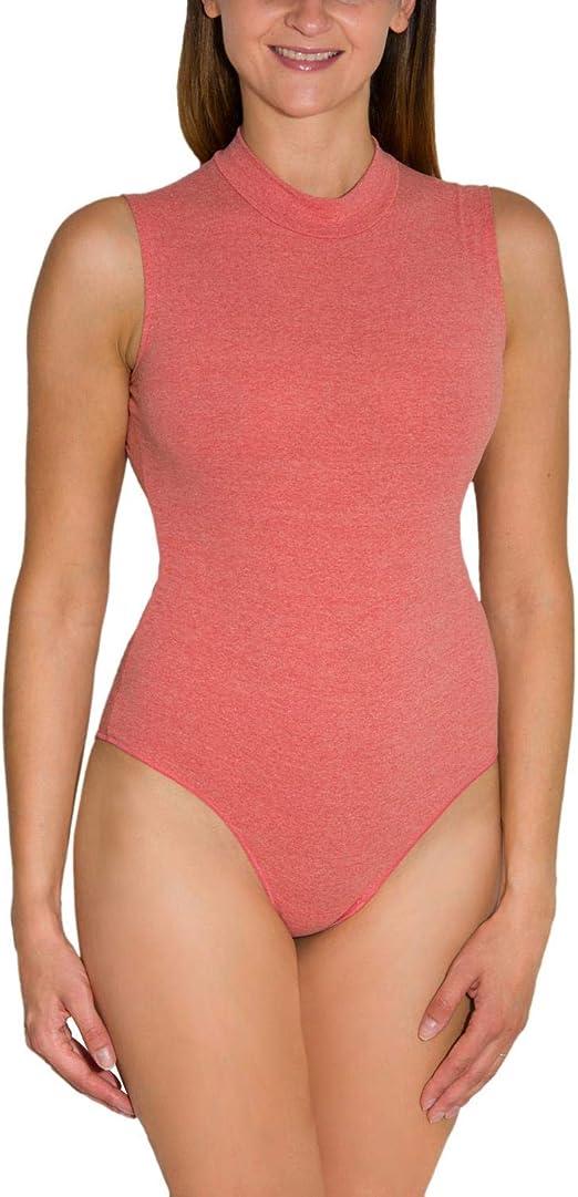 Alkato Body para Mujer con Cuello Alto y Manga Larga