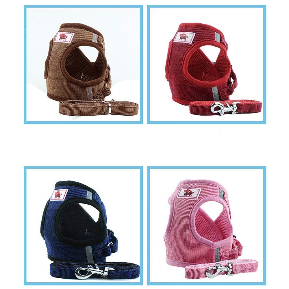 Balock Schuhe Haustierzugseil Cord Netzweste,Einstellbare Haustier Katze Hundeleine Hund,Brustgurt Hund Brustgurt G/ürtel,f/ür alle allt/äglichen und sportlichen Aktivit/äten dem Vierbeiner