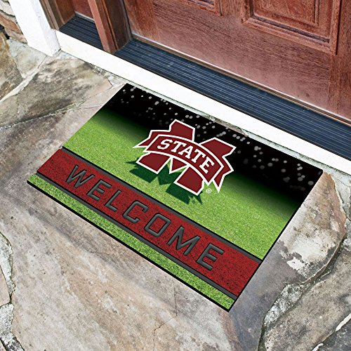 (FANMATS 22525 Team Color Crumb Rubber Mississippi State University Door Mat)