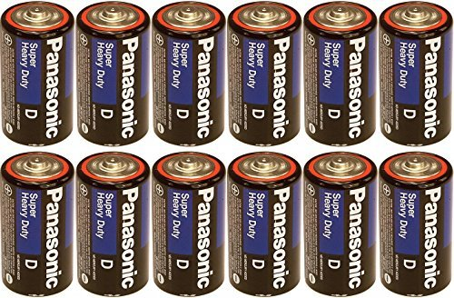 Panasonic Heavy Duty D Batteries X 12