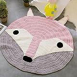 Kid Ring Crochet Fox Carpet,Ha
