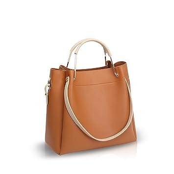 0b1aedefd43a4 NICOLE DORIS Neue Frauen Crossbody Handtaschen Umhängetasche Tote Big Bag PU  Braun