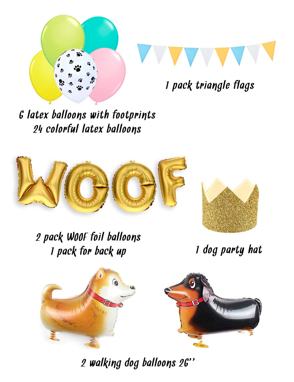 Dog Birthday Decorations Party Banner Decorative Happy Letter With Cat Legendog