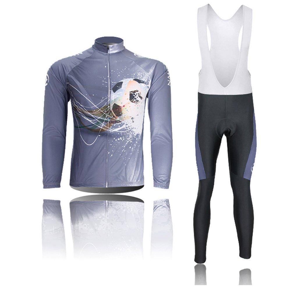 LongSpoz Spoz Men Cycling Bike Fashion Gel Padded Jersey Set