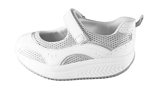 Zapatillas con Forma de Sandalias Bailarinas Abiertas y basculantes para tonificación de glúteos, Bienestar,