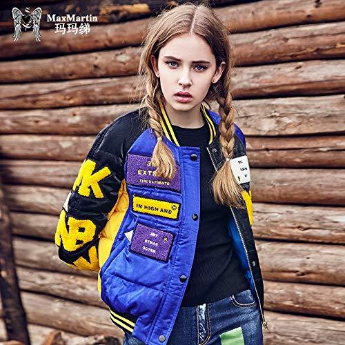 Femminile Contrasto Jacketpiumino Donna Giacca Blu Da Jjhr Stampa Piumino Piumino A Con Giacche In 1qxAwFO
