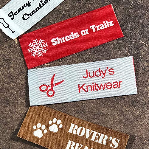 (Label Weavers Essential Woven Sew-on Tags for Sewing, Knitting, Crafts and Small Business (50 Labels))