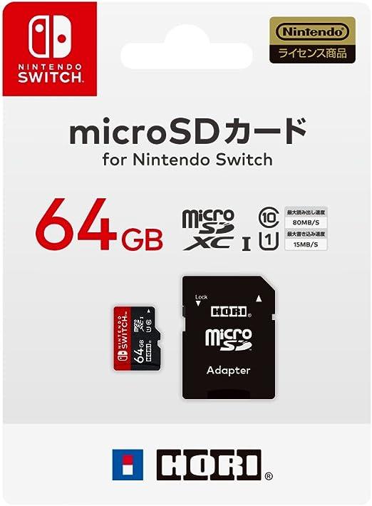 Nintendo Switch対応】マイクロSDカード64GB for Nintendo Switch: Amazon.es: Informática