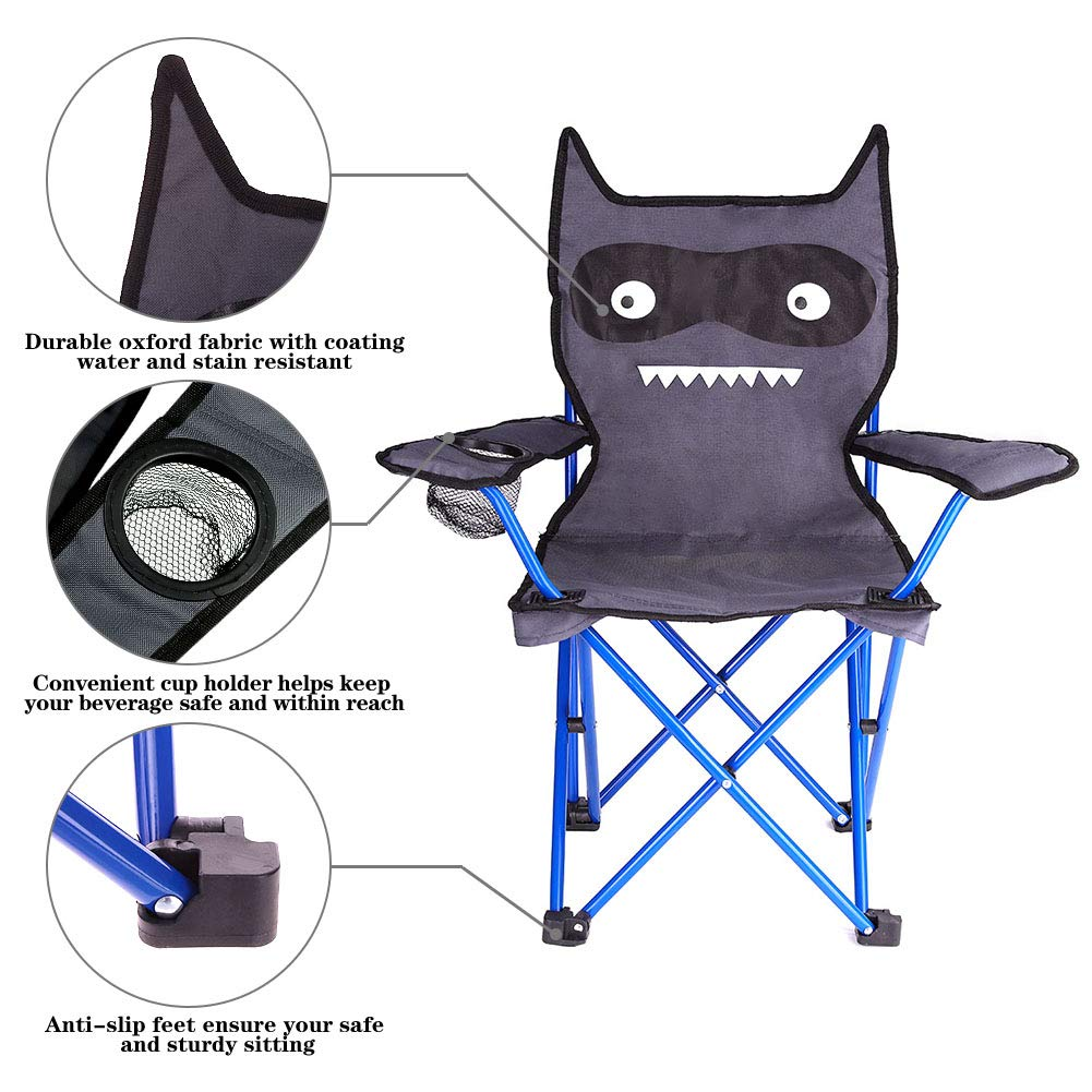 KABOER Kids Outdoor Folding Lawn and Camping Chair with Cup Holder, Little Devil Camp Chair by KABOER (Image #3)