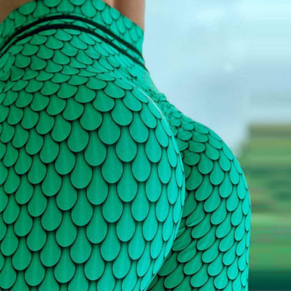 YUYOGAP Yoga Hosen Leggings Frau grün drucken Fitness Yoga Hosen hohe Taille Boden Sport Fitness Hosen elastische Sportbekleidung