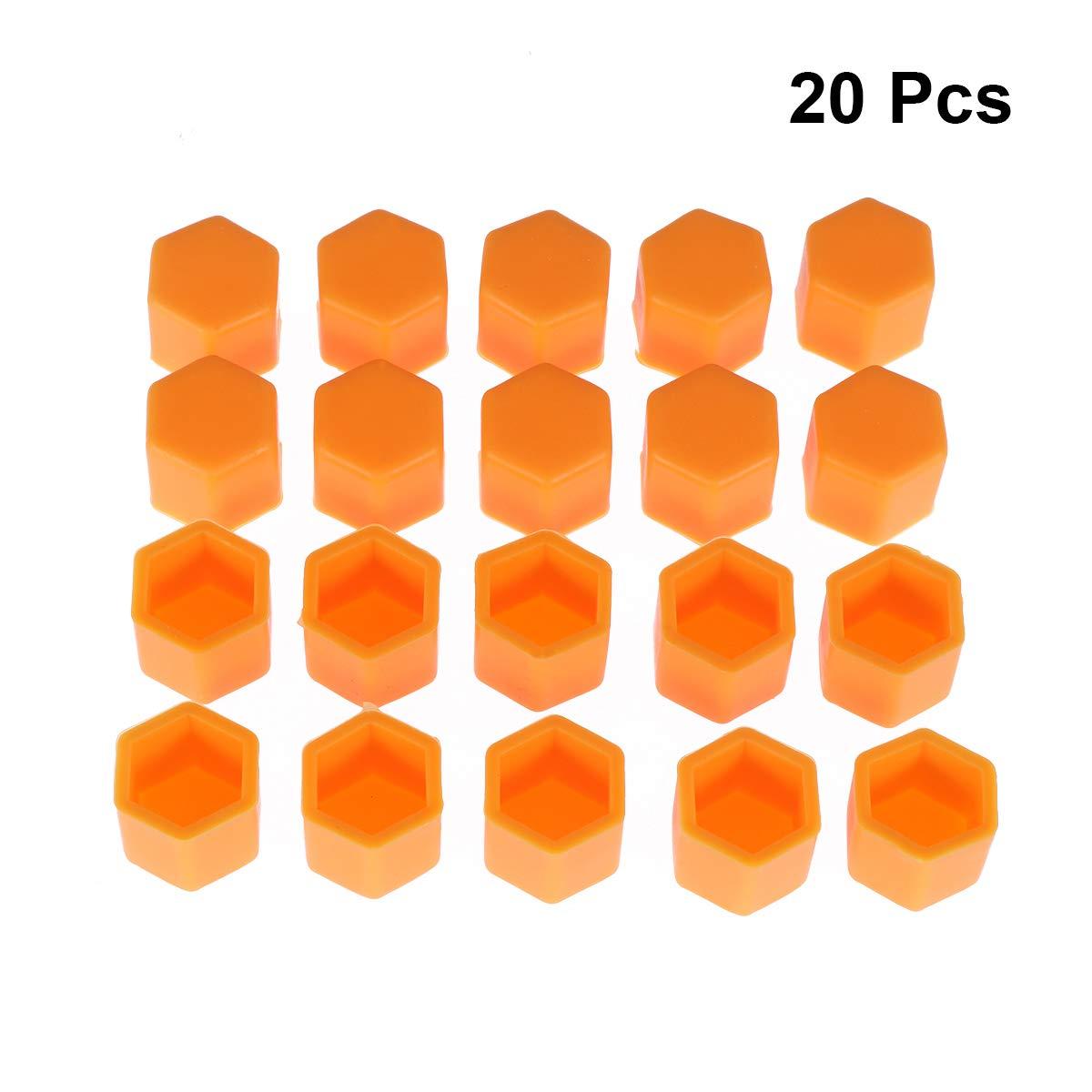 Arancione Vosarea 20pcs Copri bulloni per Dadi Ruota bulloni Copri Viti Proteggi Tappi 21mm