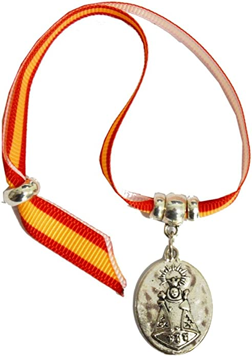 Pulsera Virgen DE COVADONGA ESPAÑA ZAMACK 14 CM: Amazon.es: Joyería