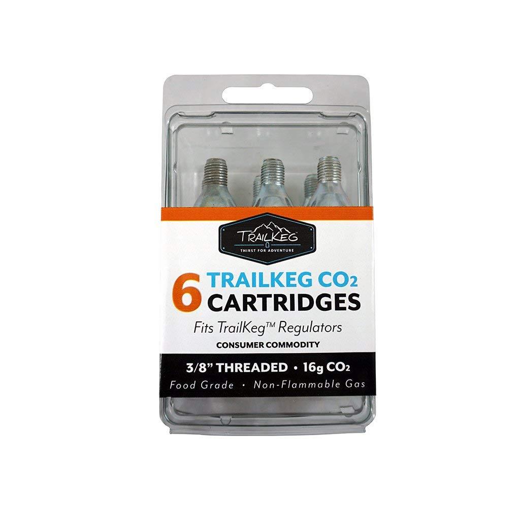 TrailKeg - 6-Pack 16g Threaded Food Grade CO2 Cartridges