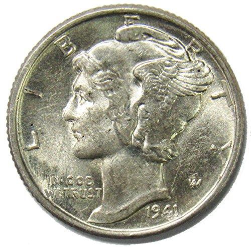 1941 P Silver Mercury Dime 10¢ Gem BU ()