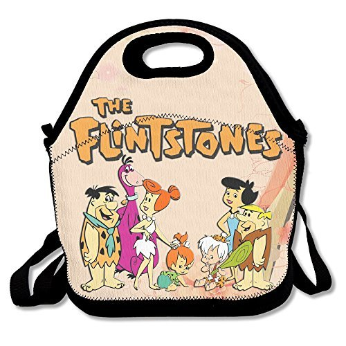 Flintstone Costumes For Toddlers (The Flintstones Lunch Bag Lunch Boxes, Waterproof Outdoor Travel Picnic Lunch Box Bag Tote With Zipper And Adjustable Crossbody Strap)