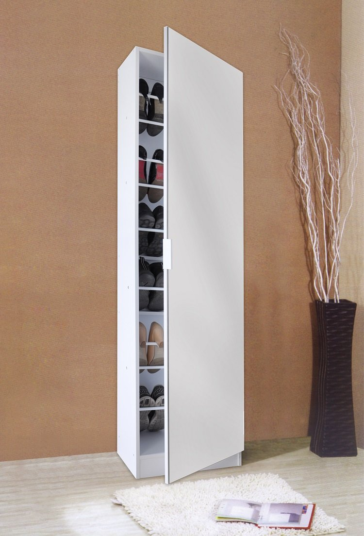 Ordinaire Calypso Contempory Mirrored Shoe Cabinet (White): Amazon.co.uk: Kitchen U0026  Home