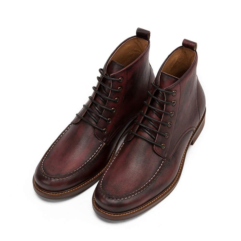 Qiusa Stiefel Chukka con Cordones para Hombre Stiefel de Confort duraderas y Suela Blanda de Moda clásica (Farbe   rot, tamaño   EU 41)