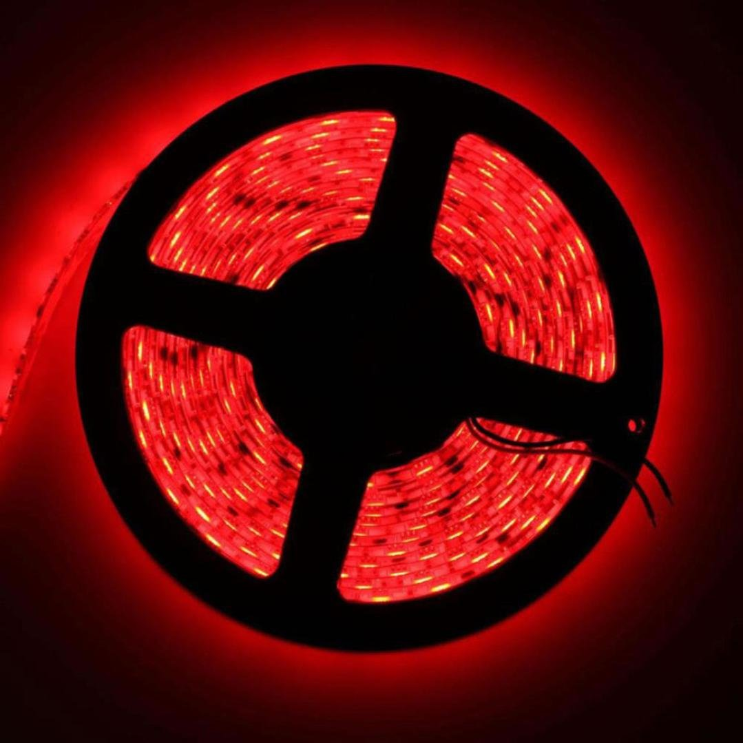 Tuscom 60CM 5050 36LED Flexible Strip Light Lamp For PC Computer Case DC 12V Waterproof,Heat Resistant (Red)